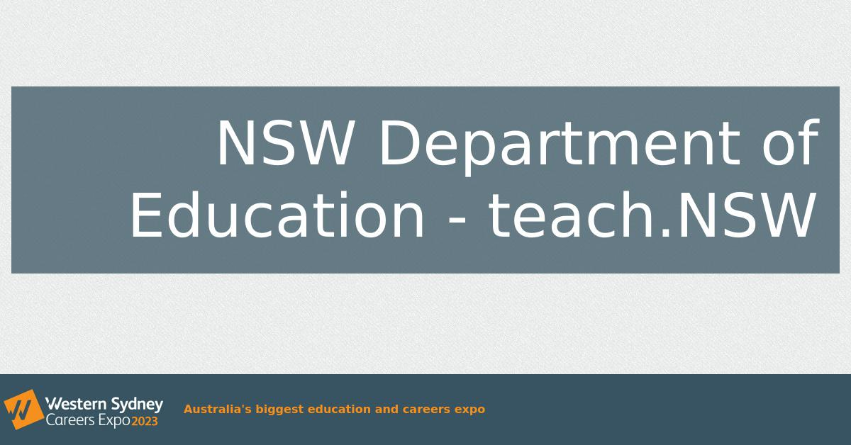NSW Department of Education - teach NSW