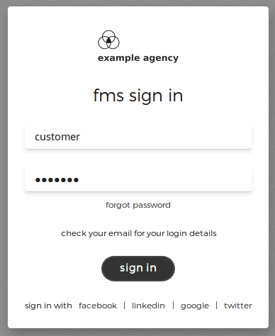 Example of a rebranded sign-in screen