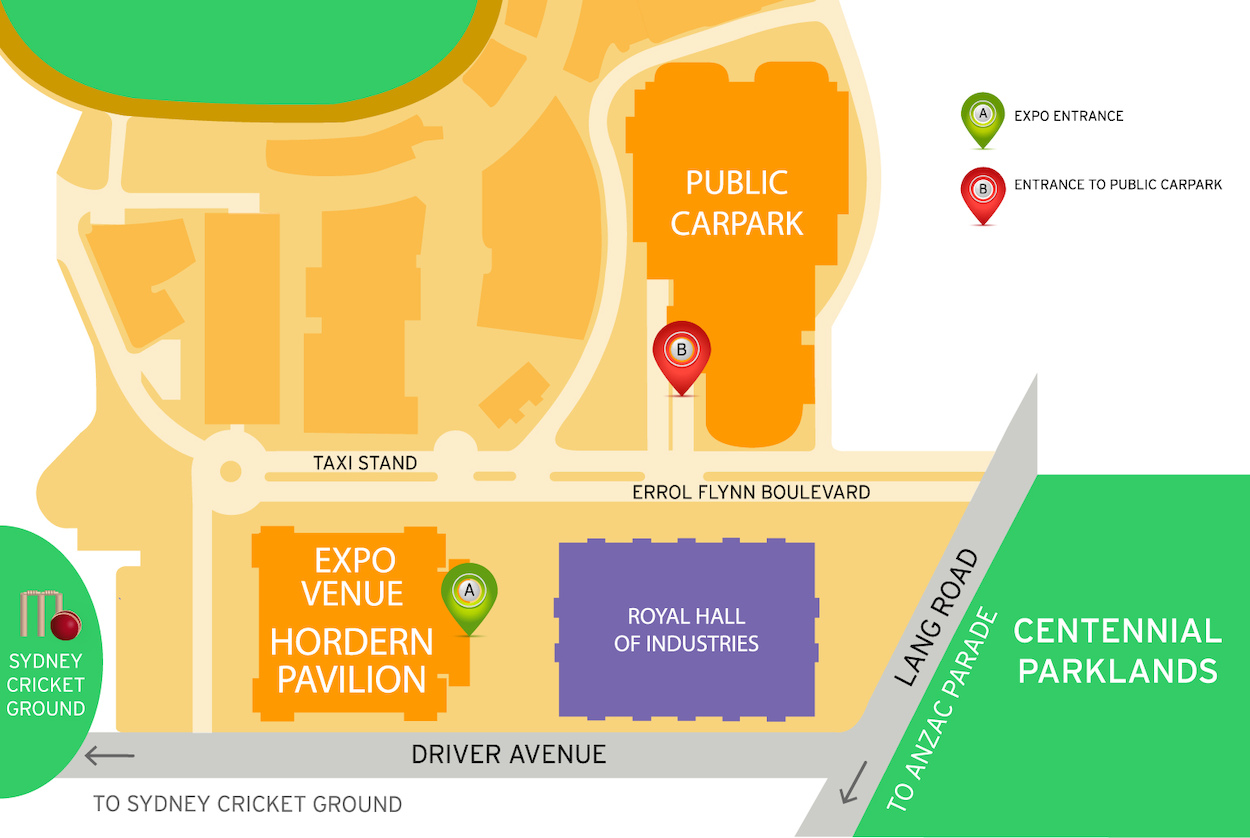 The HSC and Careers Expo Venue Map Illustration