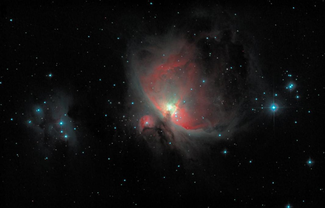 M42 shot through a light pollution filter.