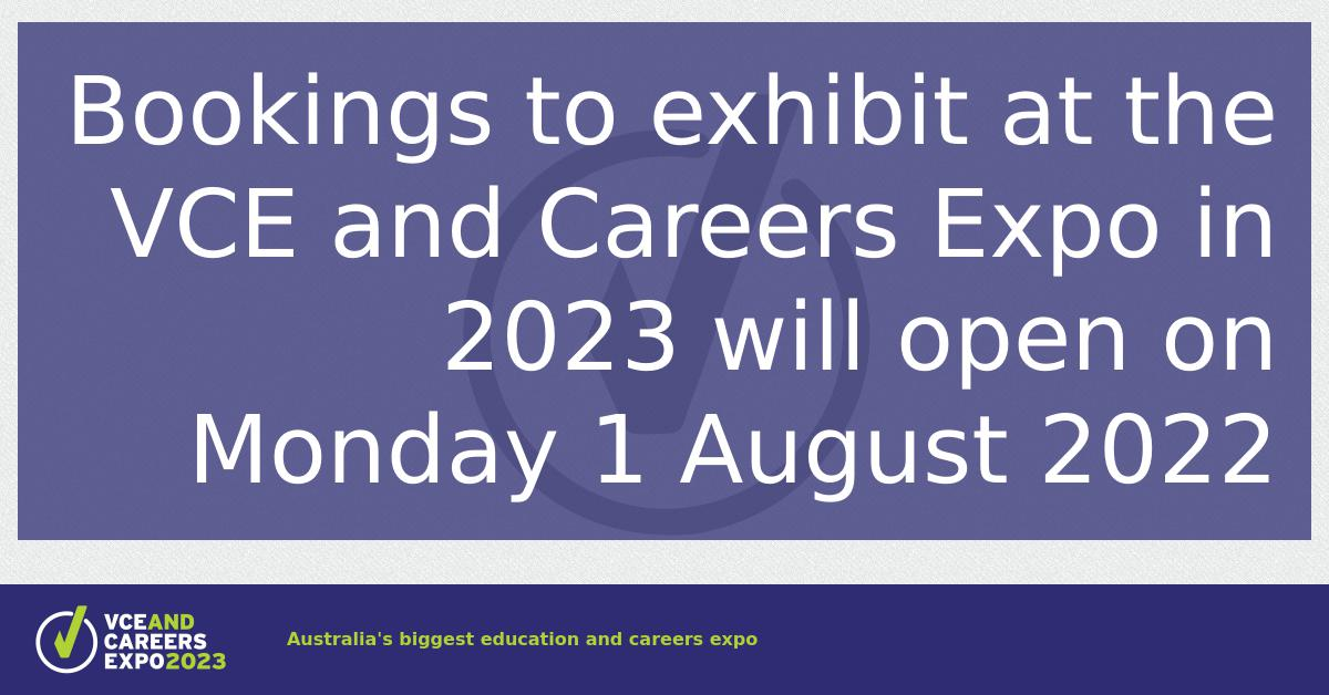 VCE and Careers Expo: School Group Bookings