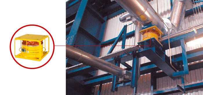 Typical GERB pipework damper and Installation of a pipework, damper type VES
